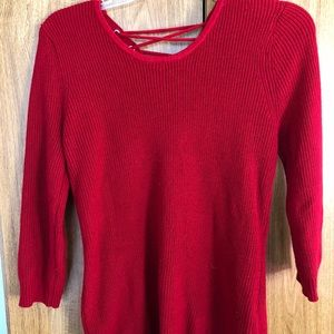 New York and company red sweater small